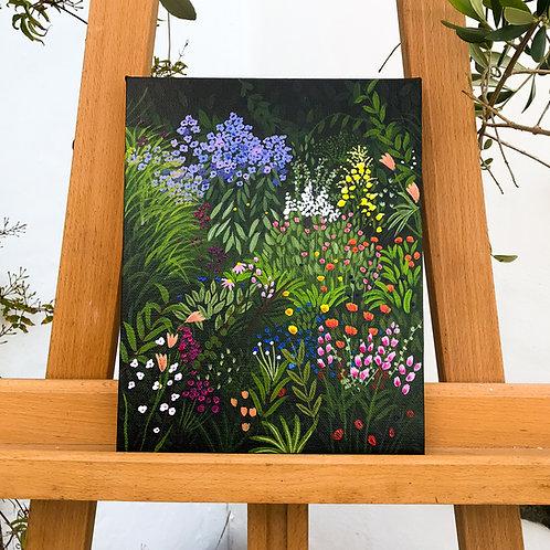Flower Garden Original Canvas Painting