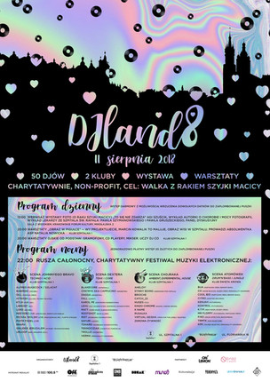 Plakat festiwalu DJland8