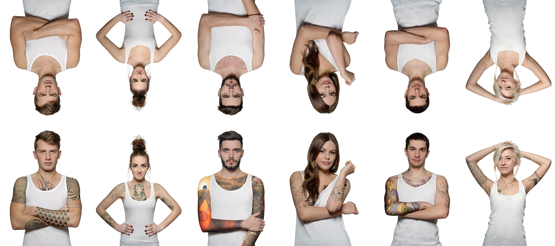 Projekt wykonany dla Magdaleny Kowal do badań służących pracy naukowej na temat postrzegania tatuażu przez osoby starsze, 2015