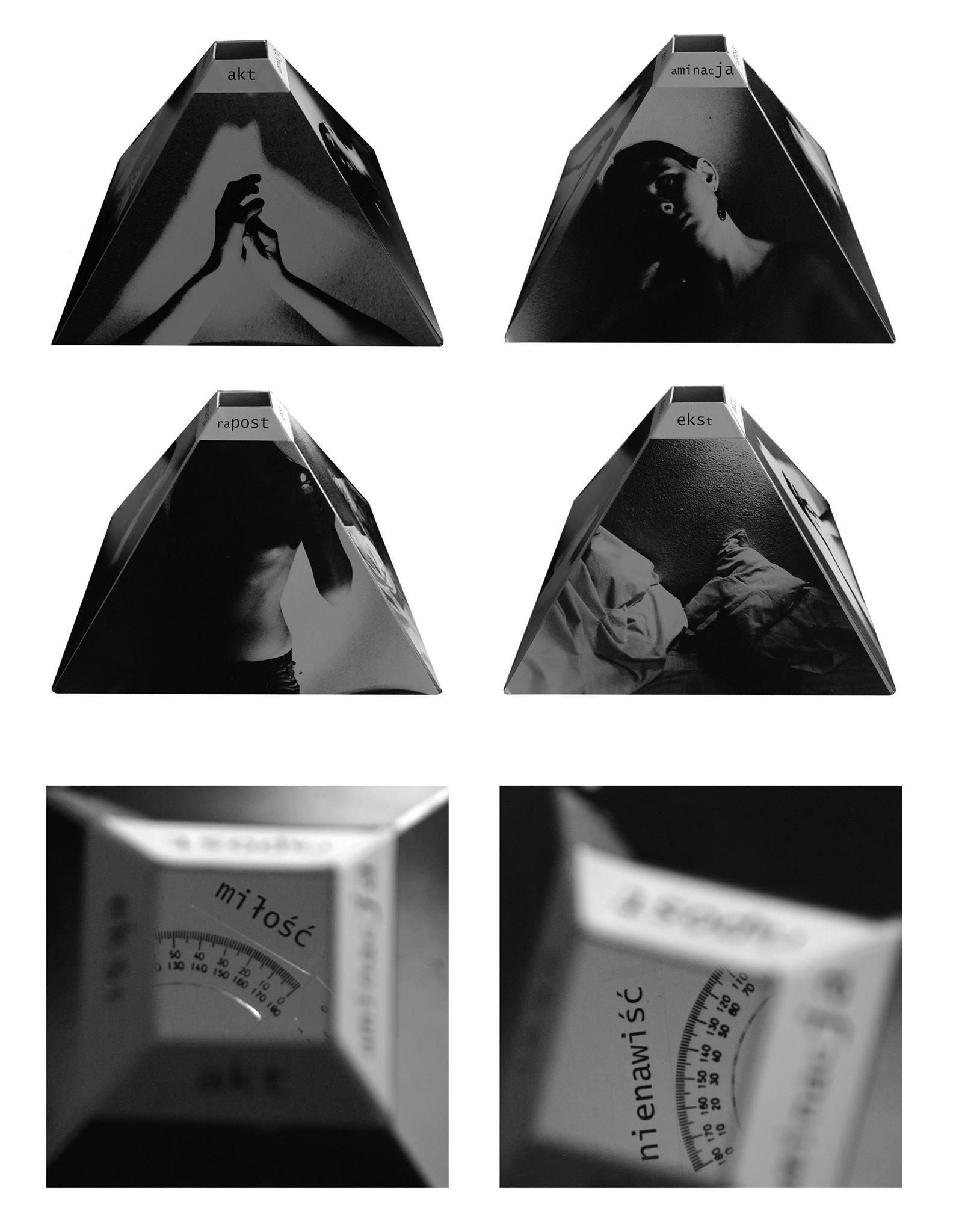 """""""Cztery kąty"""", 2008, instalacja na temat emocji w relacji romantyczno-erotycznej"""