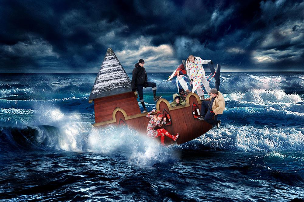 """""""Statek głupców"""", 2011, osobisty obraz fotomontażowy na sekretny temat"""