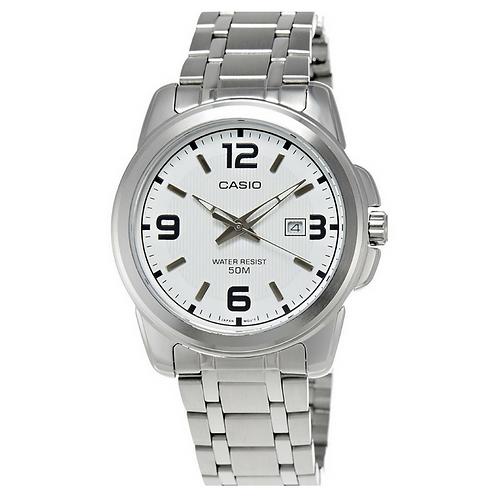 Casio Silver Analog Dress Watch