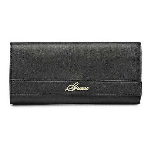 Guess Flap Clutch Bag for Women - Faux Leather, Black