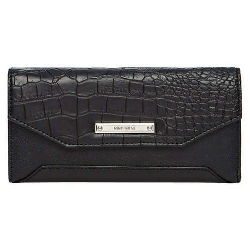 Nine West Tri-Fold Wallet for Women - Black