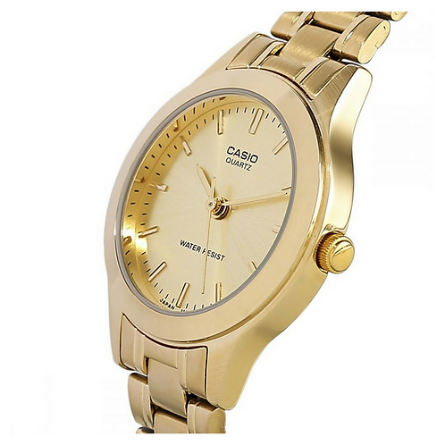 Casio Women's Gold Dial Stainless Steel Band Watch