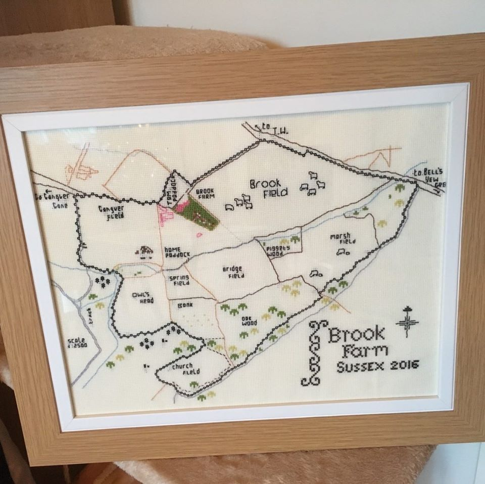 Custom Map Cross Stitch