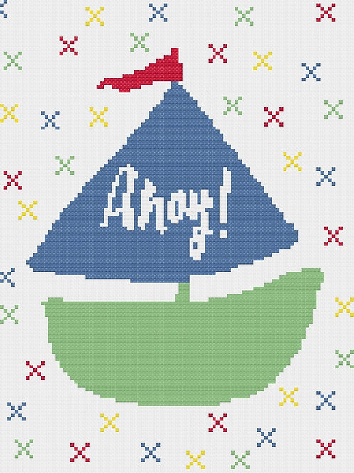 Ahoy Cross Stitch Pattern