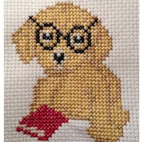Bookworm Barnaby Cross Stitch Kit (SWL003)