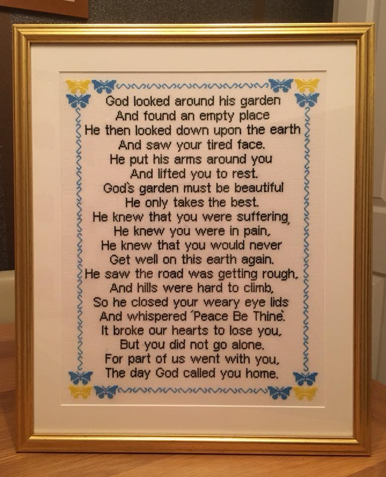 Custom Poem Cross Stitch