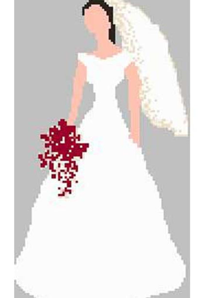 Blushing Bride Cross Stitch Pattern