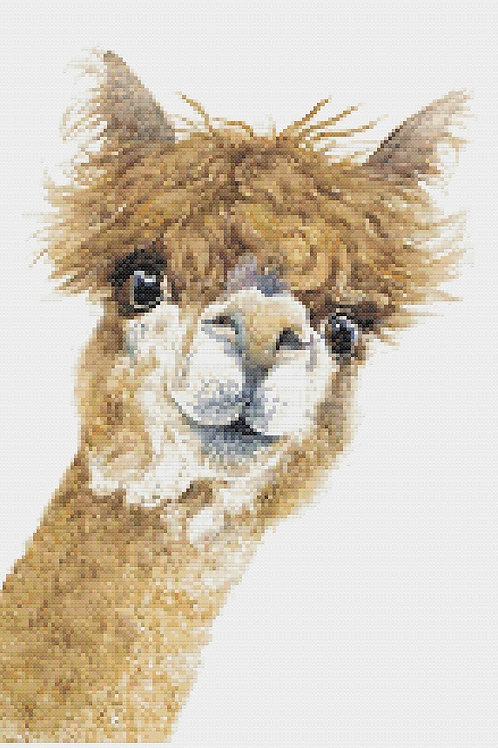 Wendy Alpaca Cross Stitch Kit