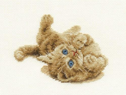 Kitten Playing Cross Stitch Kit (BK904)