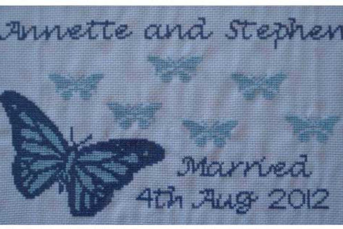 Wedding Butterfly Custom Cross Stitch Picture
