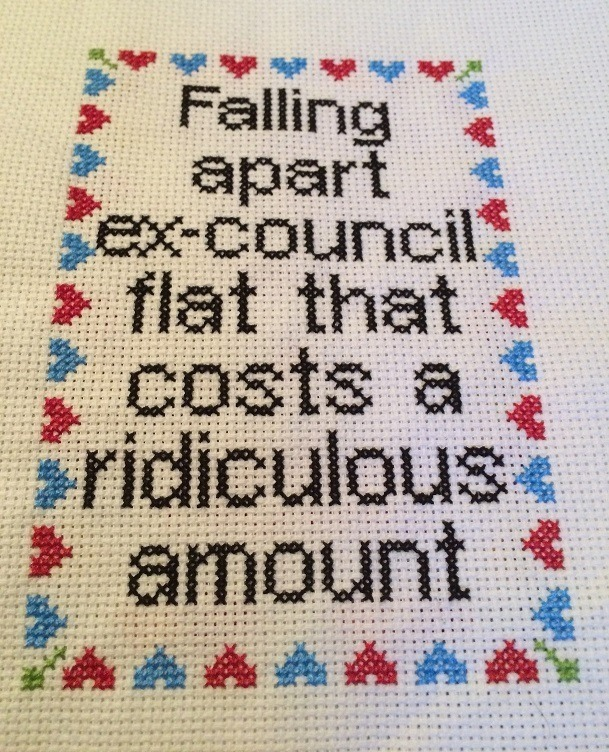 Cross Stitch for Shelter Scotland