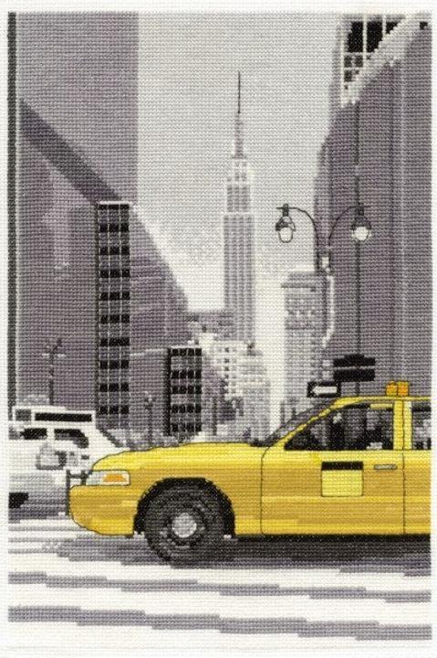 New York Taxi Cross Stitch Kit (BK1350)