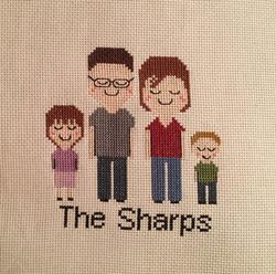 Custom Family Cross Stitch