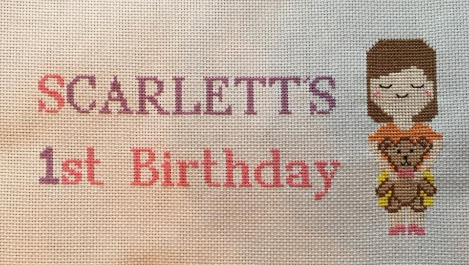 1st Birthday Cross Stitch