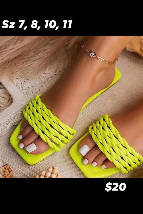 Rope Sandals (neon)