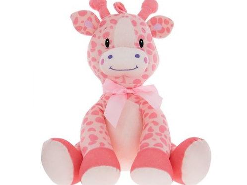Large Plush Giraffe - Pink