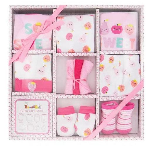 10 Piece Baby Girl Gift Set