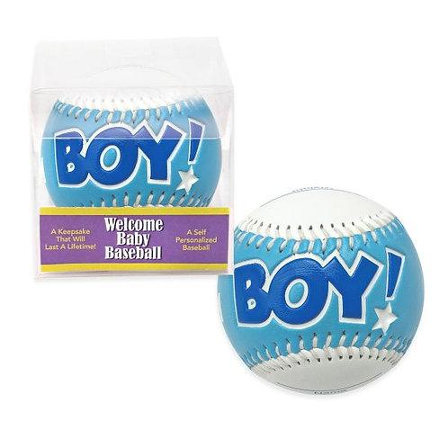 Welcome Baby Boy Baseball