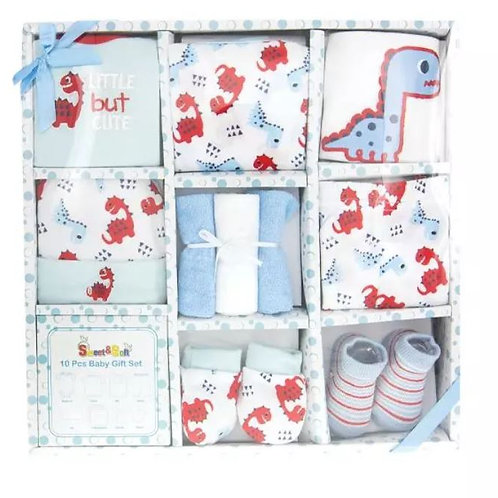10 Piece Baby Boy Gift Set