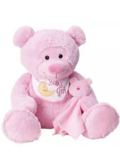 Baby Bear with Bib & Blankie (Girl)