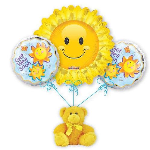 Get Well Sunshine Balloon Bouquet