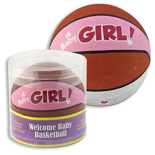 Welcome Baby Girl Basketball