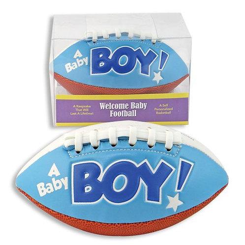 Welcome Baby Boy Football