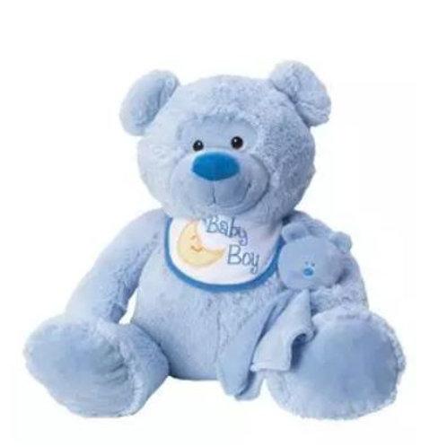 Baby Bear with Bib & Blankie (Boy)