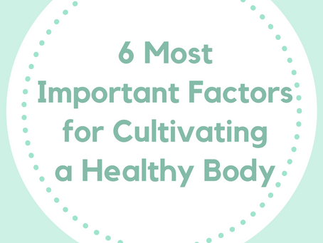 6 Most Important Factors to Cultivate a Healthy Body