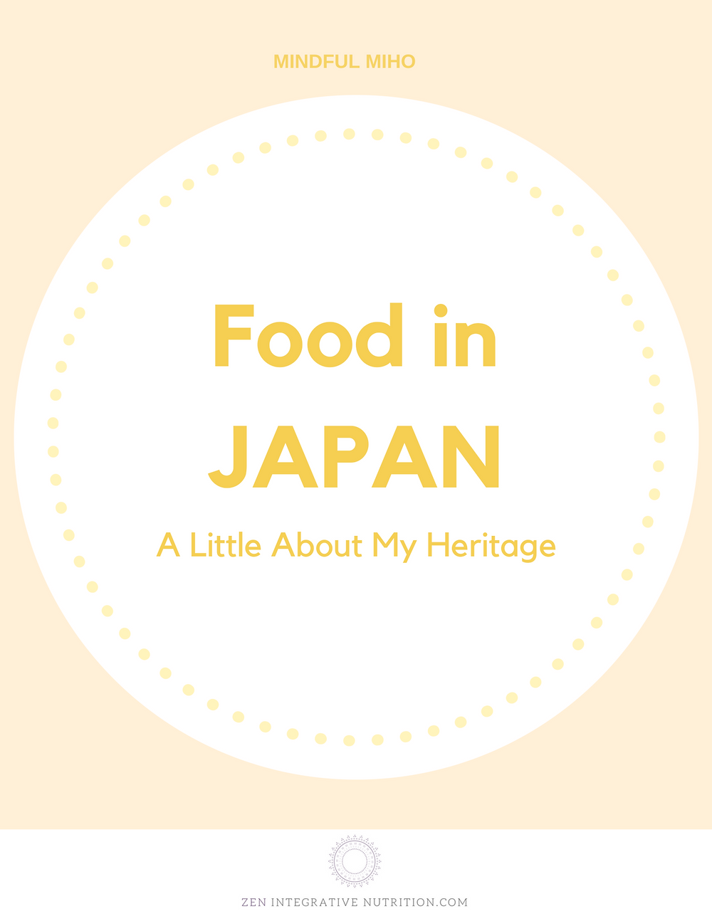 Food In Japan A little about my heritage