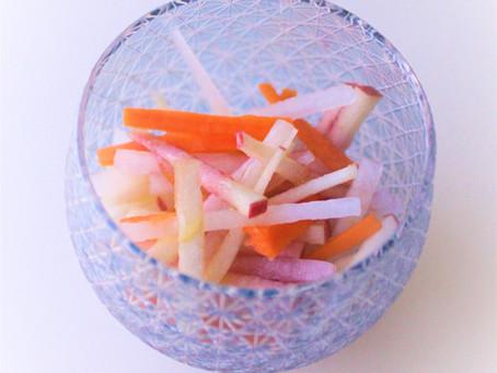 Miho's Easy Japanese Kitchen: Daikon Radish and Apple Salad