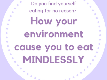 Do you find yourself eating for no reason?  Your environment may be causing you to eat.