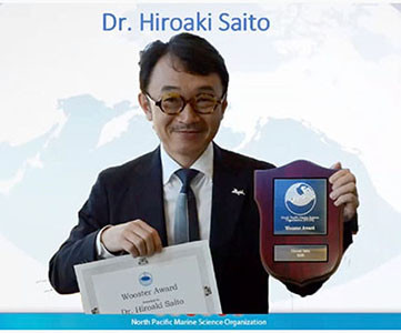 Prof. Saito received PICES Wooster Award