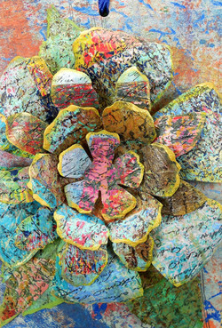 Collaged Flower Tag