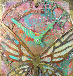 Up-Cycled Dragonfly Tag
