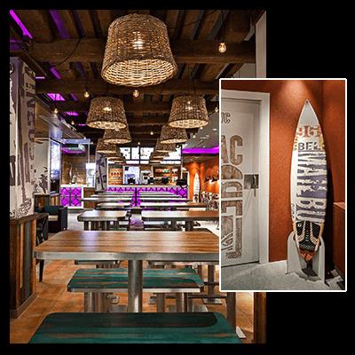 Taco Bell International, Interior Design