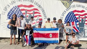 Los ticos traen a casa SEIS trofeos del US Open Adaptive 2021