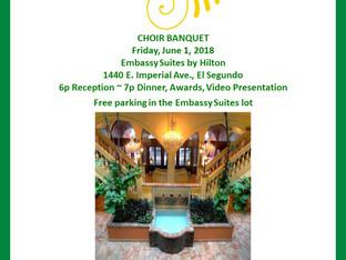 Choir Banquet June 1st