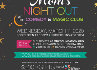 Tickets On Sale - Mom's Night Out Mar. 11