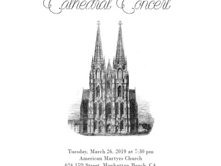 Cathedral Concert - Tues., Mar. 26th