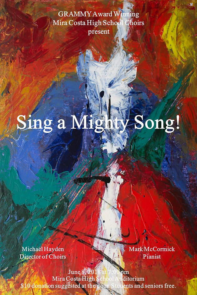 Spring Choral Concert, Sing a Mighty Song! Friday, June 8th | Costa