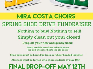 MCHS Choirs Spring Shoe Drive - Please Donate Your Unwanted Shoes