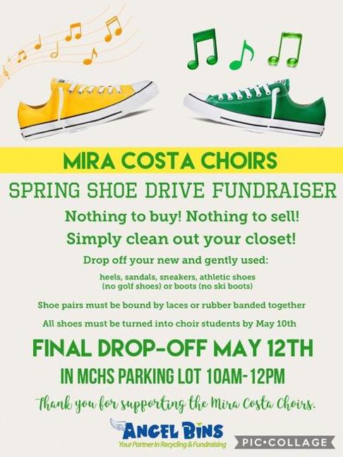 shoe fundraiser flyer