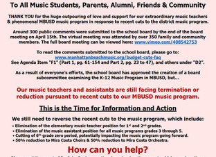 Music Program Advocacy Update - May 1, 2020