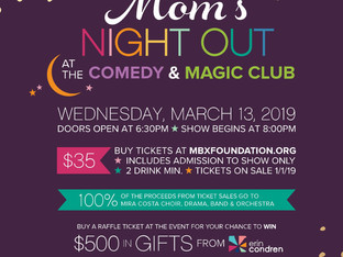 Get Your Tickets For Mom's Night Out - Wed., March 13th