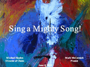 Spring Concert Sing a Mighty Song! Now Available for Download