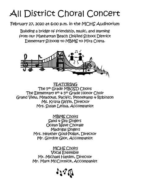 2020 All District Choral Concert POSTER